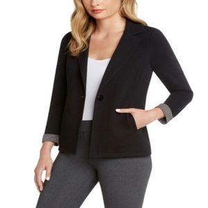 MATTY M women long sleeve 1-BUTTON BLAZER Jacket